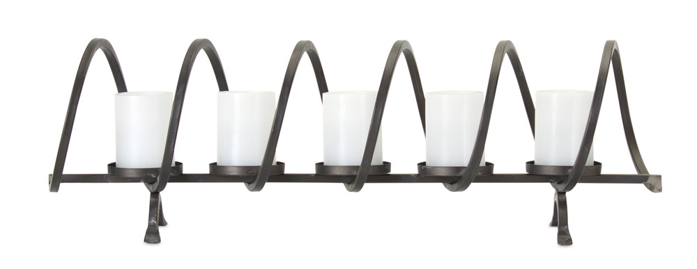 Spiral Iron Table Top Votive Candle Holder